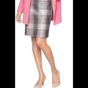 Talbots | Plaid Wool Blend Pencil Skirt